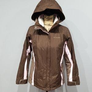 Women's brown and pink interchange Columbia coat!